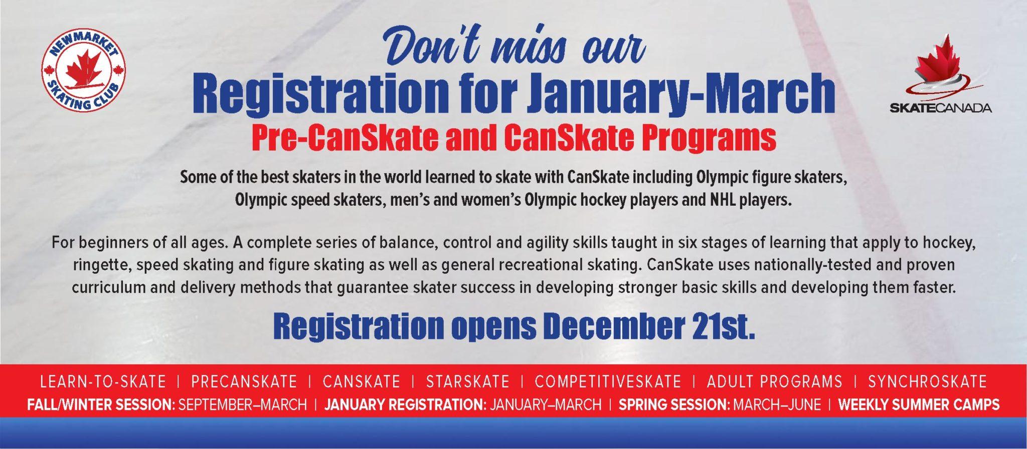 January Canskate Registration